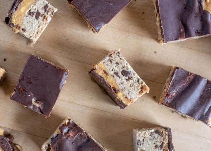No-Bake Paleo-Vegan Cookie Dough Bars